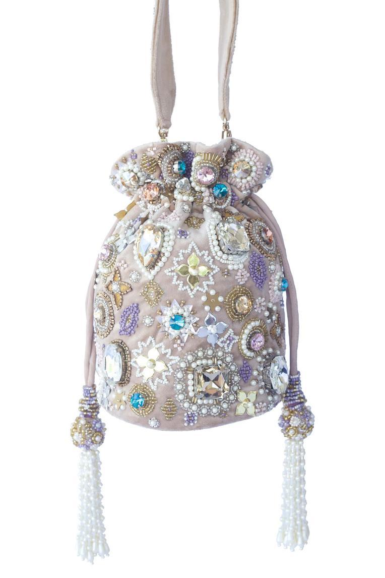 Embroidered Velvet Potli Bag