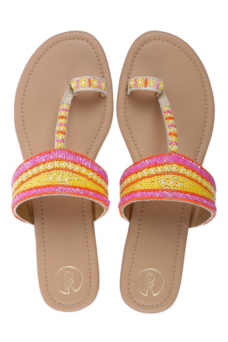 Bead Embellished Kolhapuri Sandals