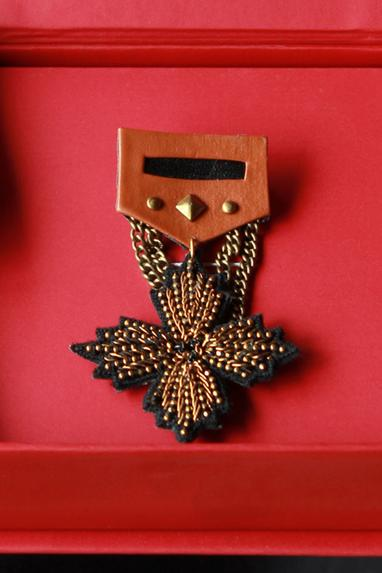 Unisex Handcrafted Embroidered Brooch