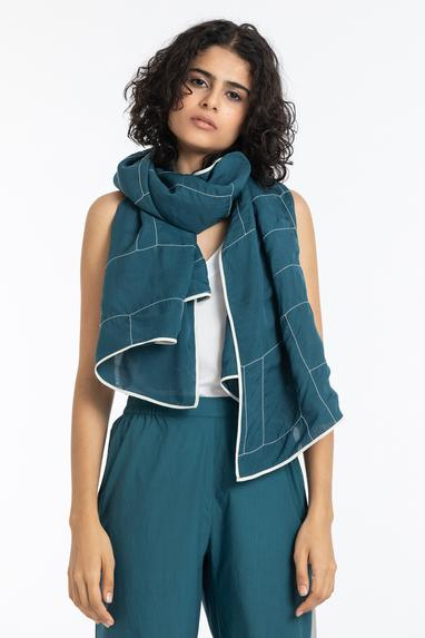 Organza Scarf with Top & Pant