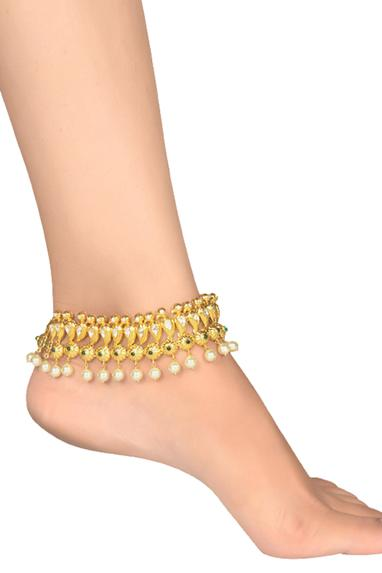 Peacock Stone Anklet