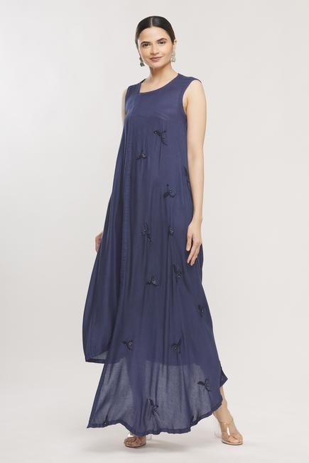 Embroidered Asymmetric Dress