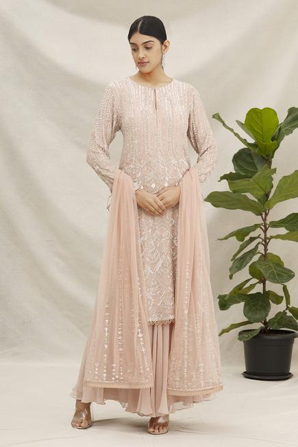 Sequin Embroidered Palazzo Set