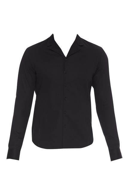 Cotton Loop Collared Shirt