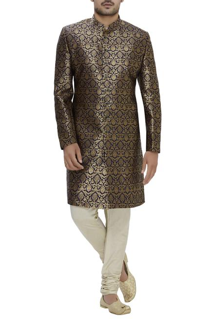 Silk sherwani set