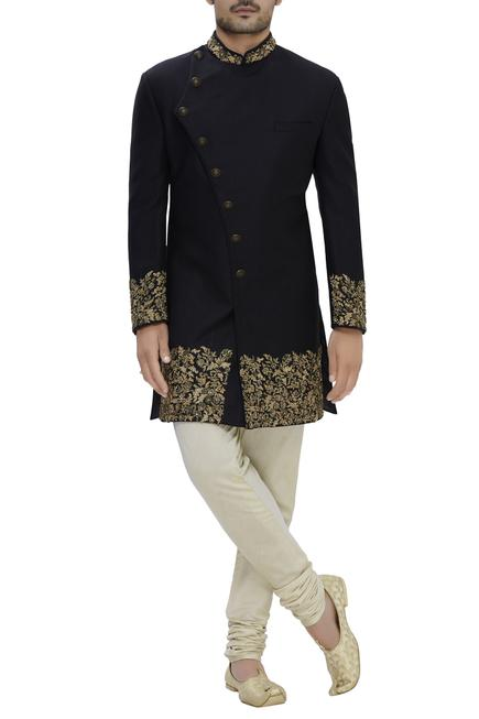 Silk Embroidered sherwani set
