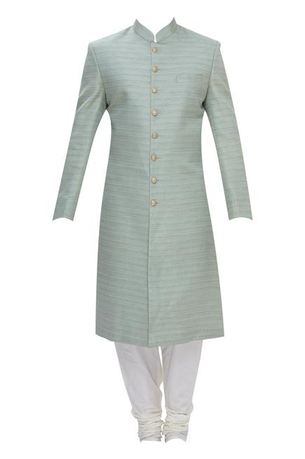 Raw Silk sherwani set