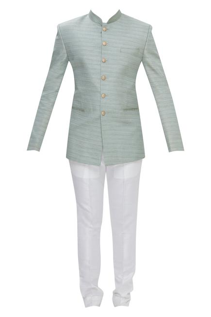 Silk Bandhgala With Trouser