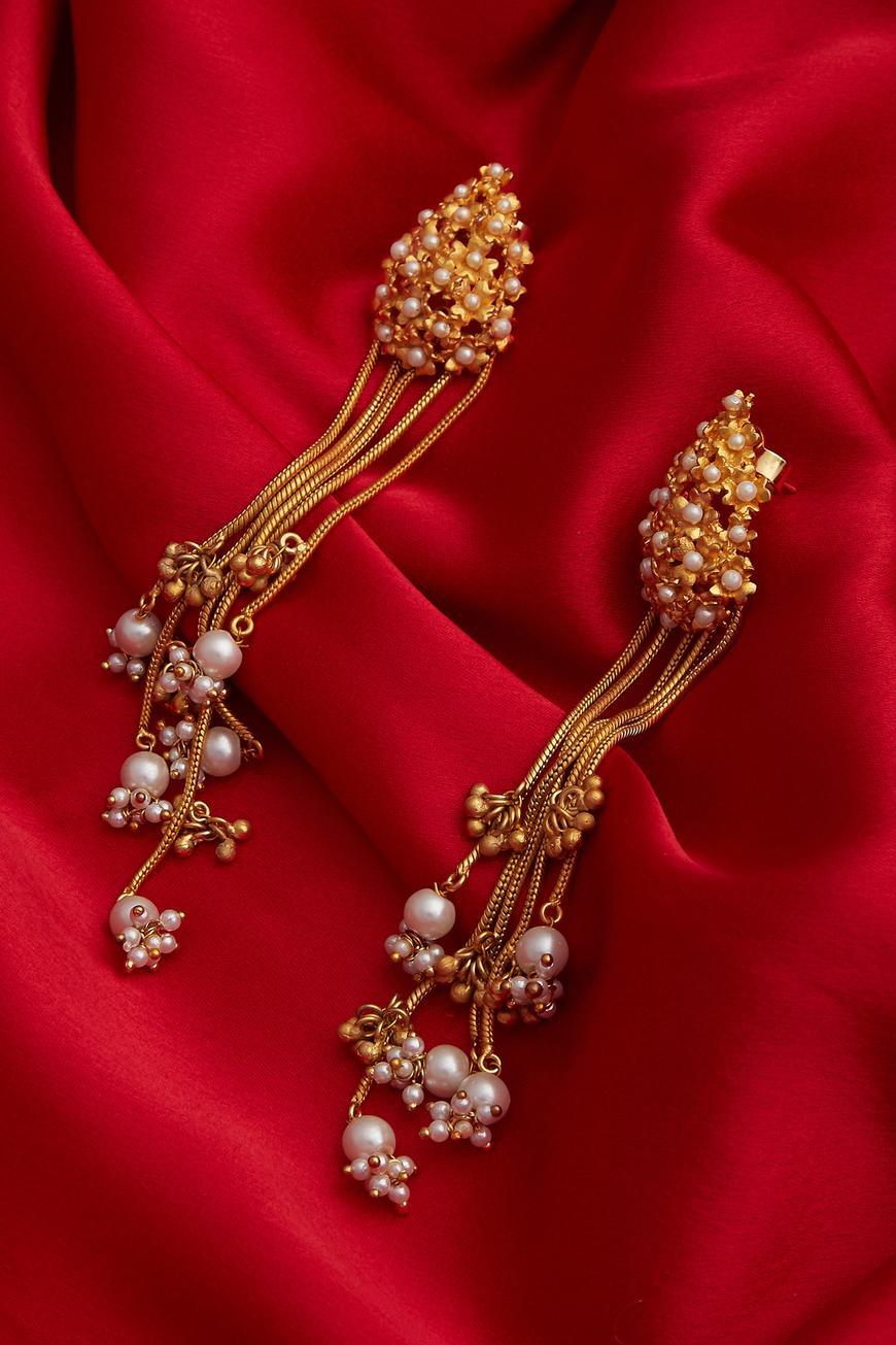 Drop bead earrings