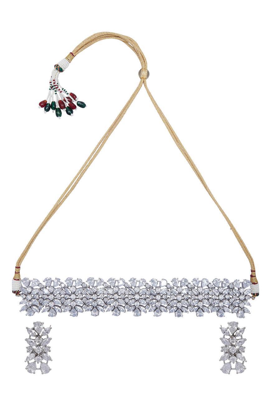 Crystal Chocker & Earrings Set