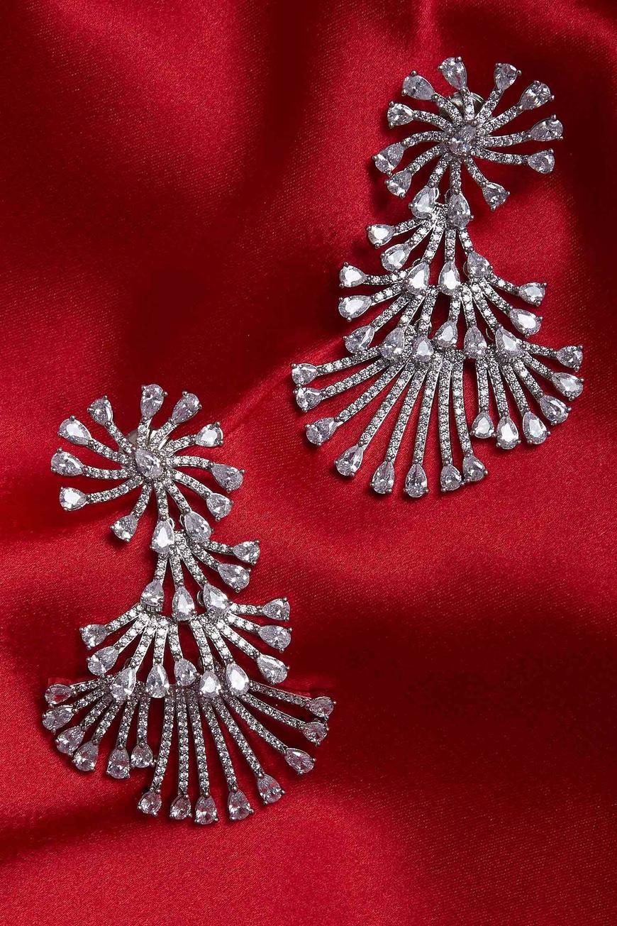 Floral Head Earrings
