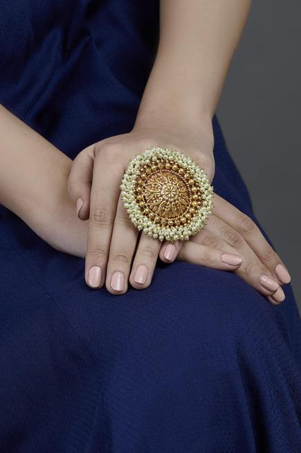 Carved Bead Ring