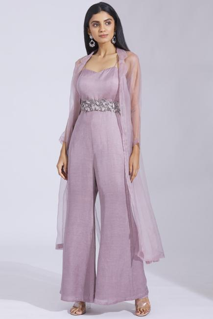 Flared Jumpsuit with Jacket