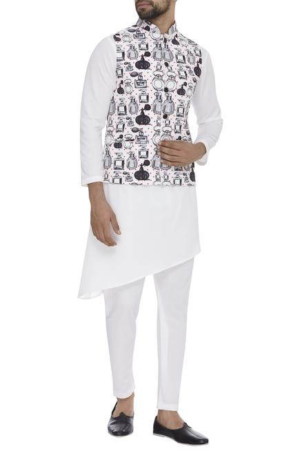 Perfume Bottle Digital Printed Nehru Jacket