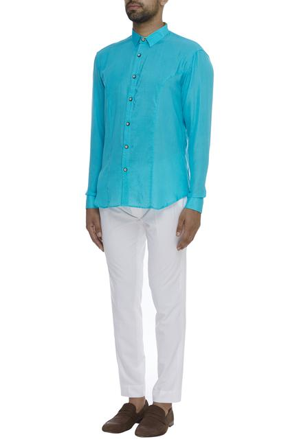 Organic silk Collared Shirt