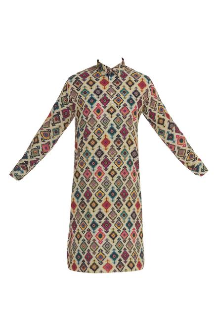 Full Sleeve Printed Kurta