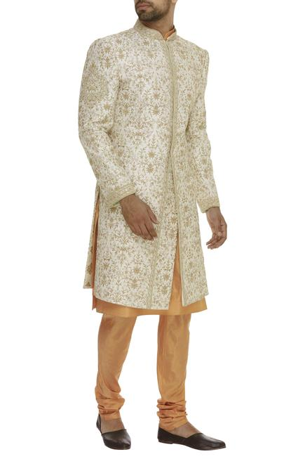 Floral Embroidered Sherwani Set