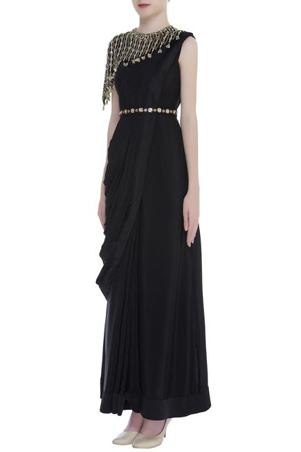 Draped Gown with Cape
