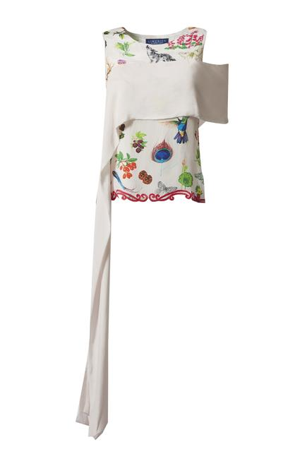 Dori embroidered draped top with pant