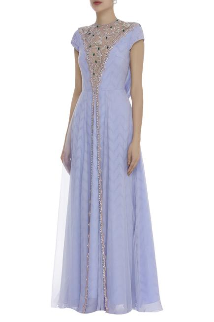 Crystal & Cutdana Embroidered Gown