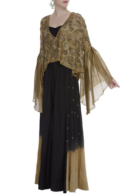 Jumpsuit With Zardozi Embroidered Top