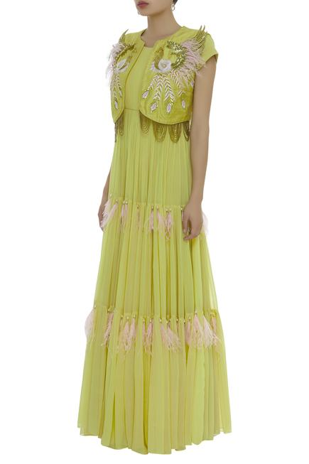 Tiered Gown with Jacket