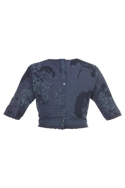 Hand painted & embroidered blouse