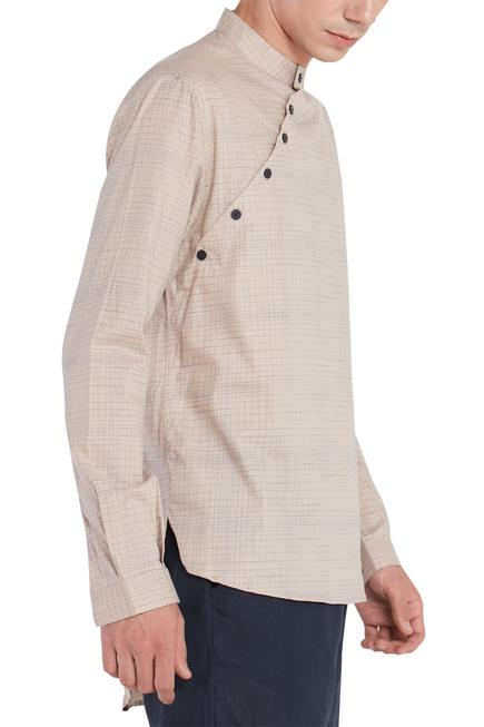 Diagonal Button Front Short Kurta