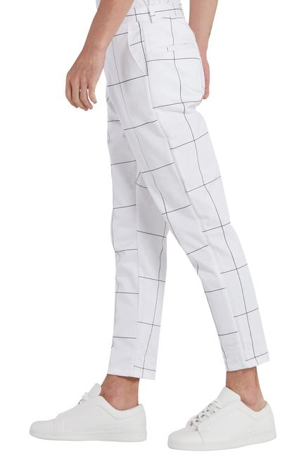 Checks printed trouser pant