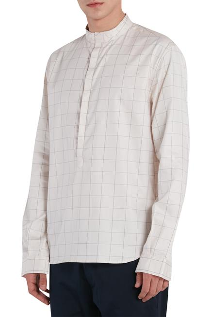 Checkered print shirt kurta