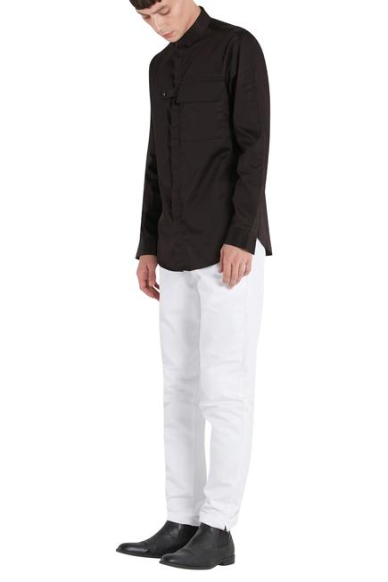 Shirt with concealed placket