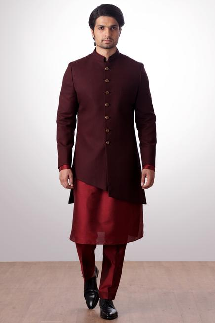 Asymmetric sherwani set