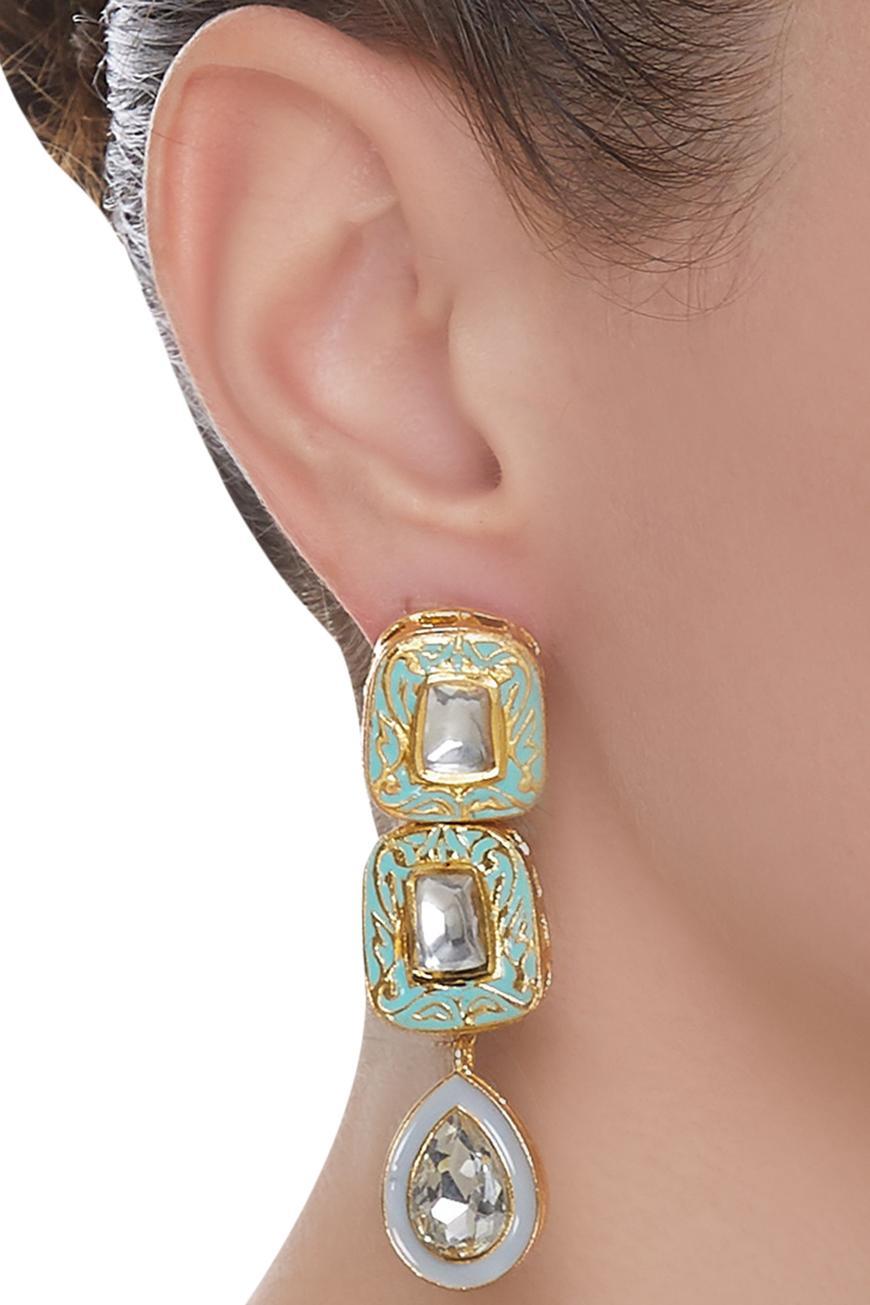 Jadtar Meenakari Earrings