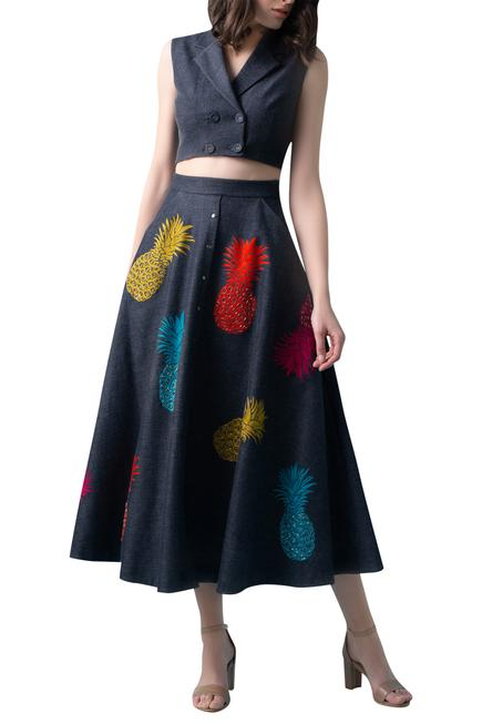 Embroidered Skirt Set