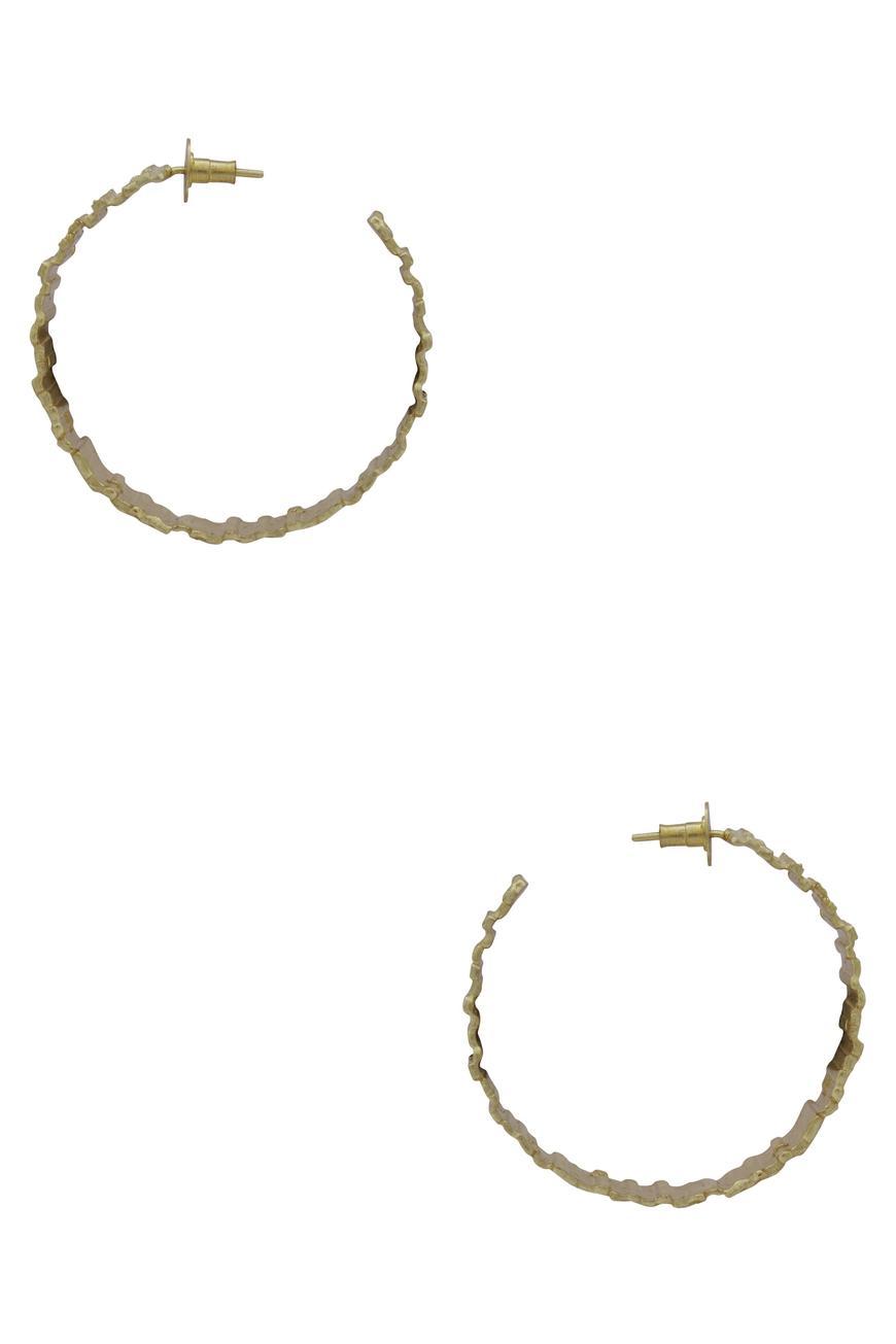 Textured Circular Earrings
