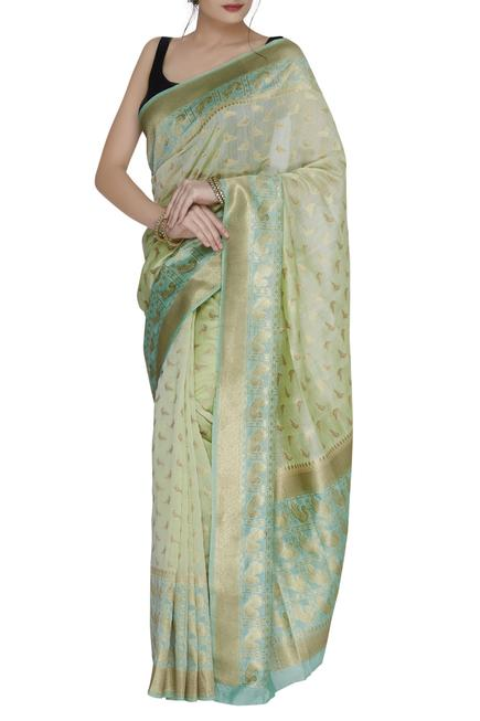 Swiss cotton saree with running blouse