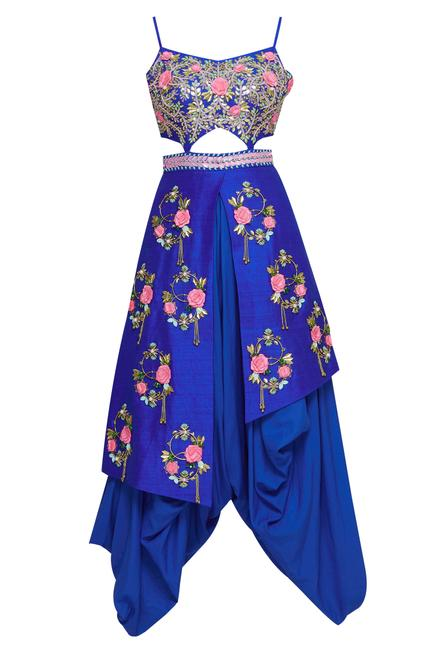 Embroidered Dhoti Jumpsuit