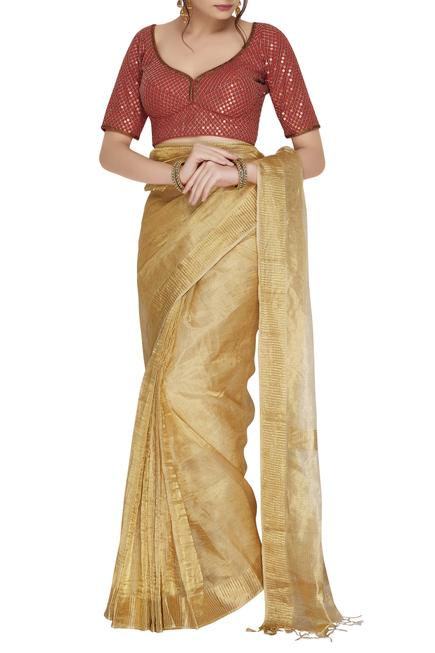 Chanderi Embroidered Blouse