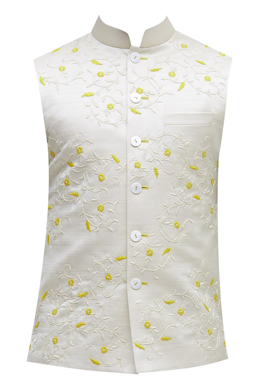 Polysilk Embroidered Bandi