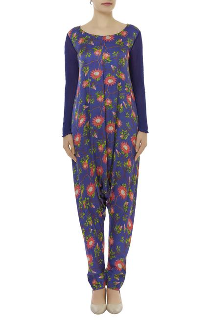 Printed Jumpsuit With Layered Jacket