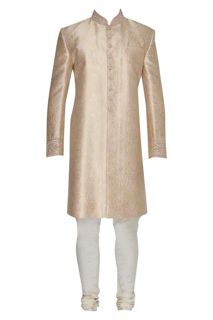 Brocade sherwani set