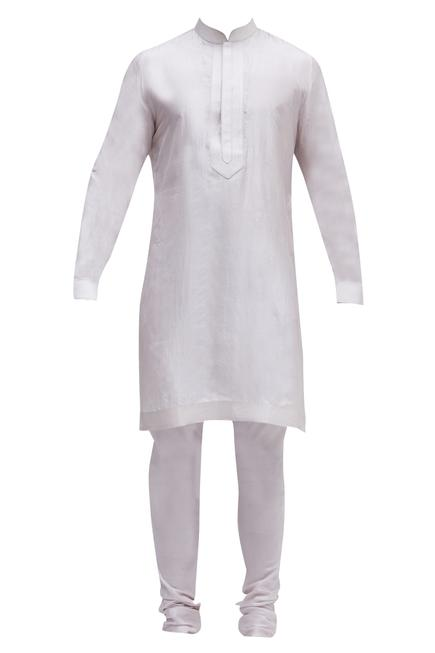 Raw silk bundi & kurta set