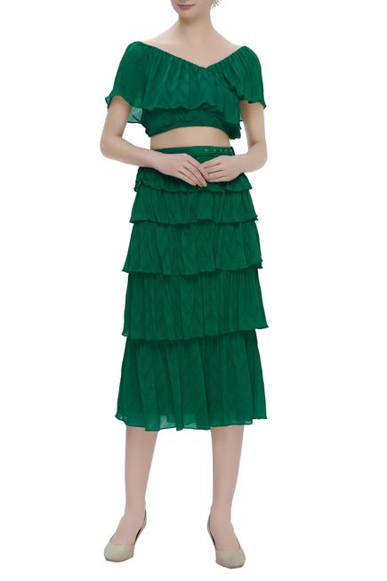 Crop Top With Layered Skirt
