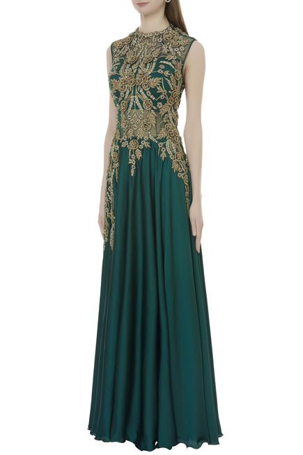 Embroidered Anarkali Gown