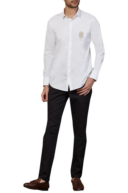 Cotton embroidered shirt