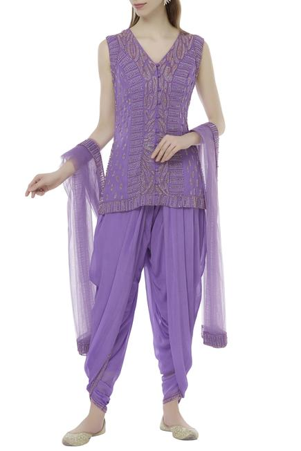 Embellished Kurta Dhoti Set