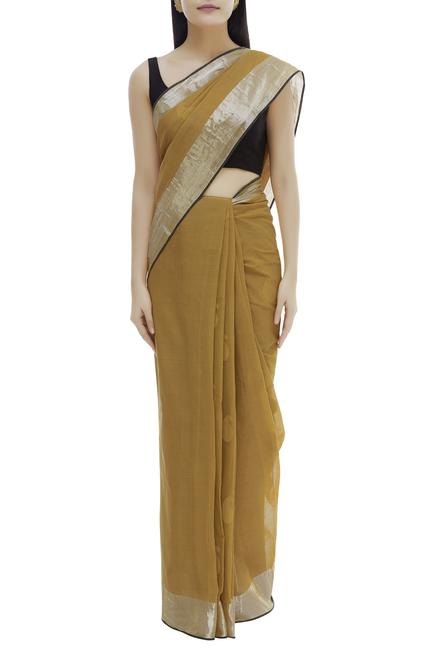 Cotton Woven Saree with Running Blouse