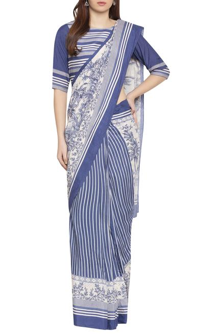 Printed Pre-Stitched Saree With Blouse