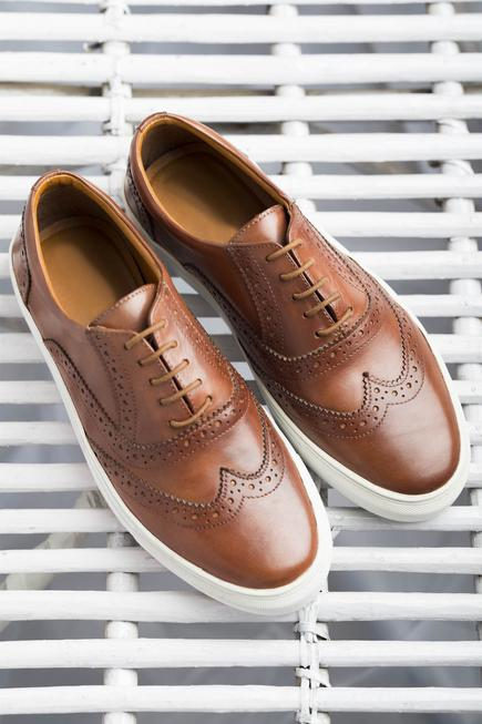 Lace Up Brogue Sneakers
