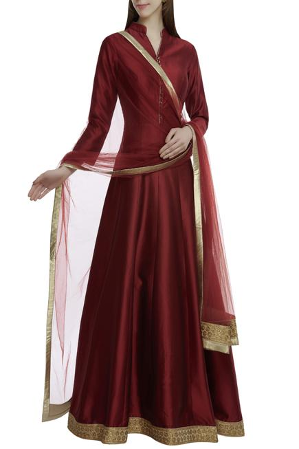 Kalidar Anarkali with Dupatta